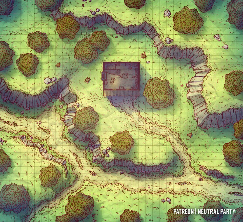 Forest Shack Battlemaps Fantasy City Map Fantasy Map Tabletop Rpg Maps