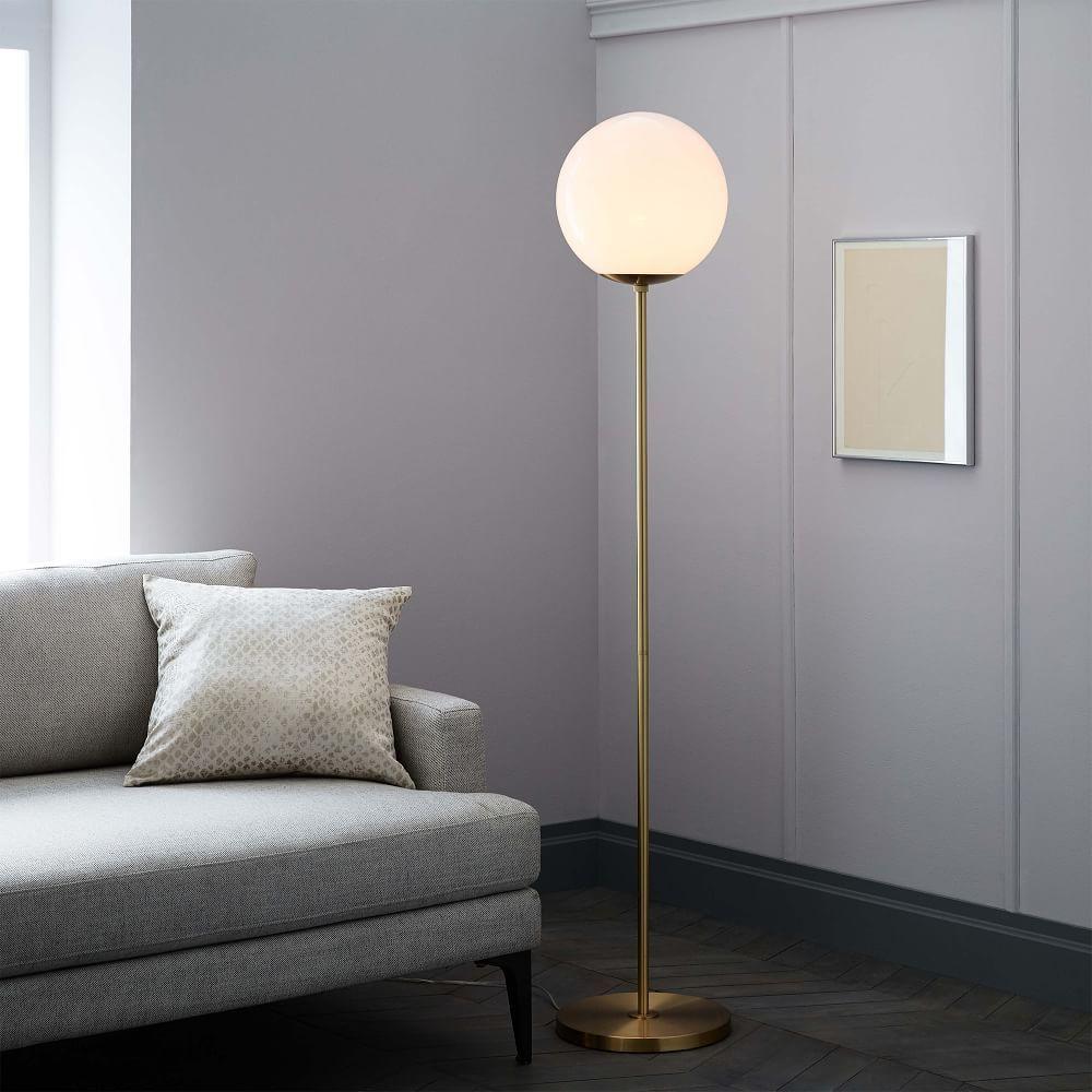 cc1969f78a73 Globe Floor Lamp Glass Floor Lamp, Led Floor Lamp, Modern Floor Lamps,  Modern