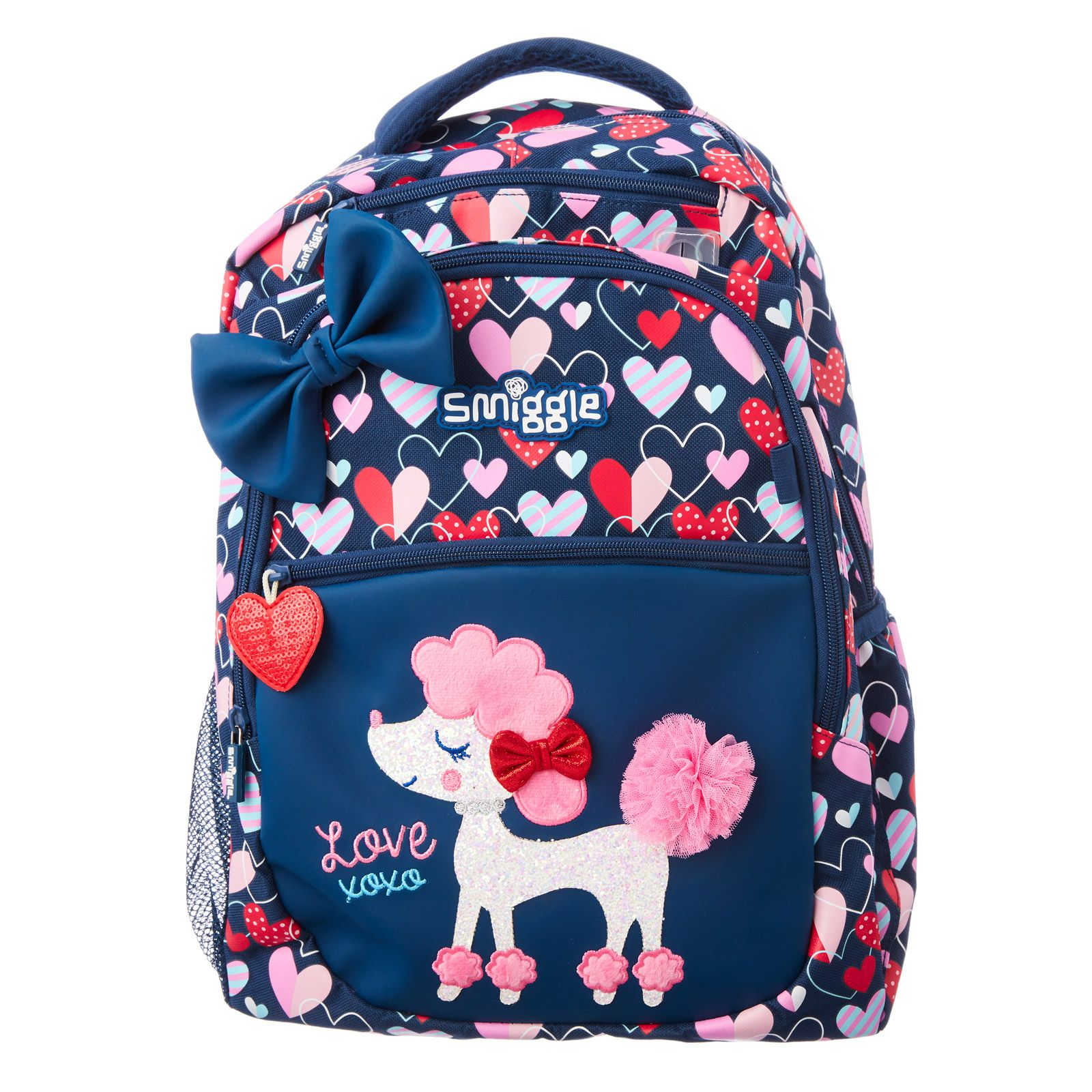 ❤ NEW Girls SMIGGLE Backpack School Bag Rucksack Fluffy Fave Unicorn Glitz Gold