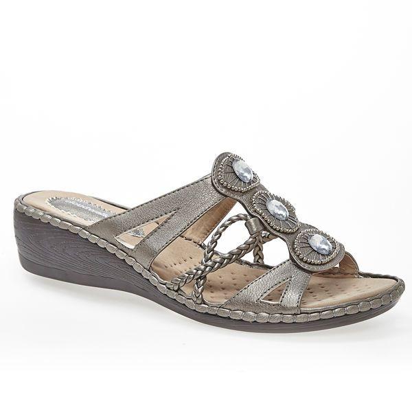 ef2a6057d2a0 Zena Embellished Cloudwalkers® Comfort Sandal-Wide Width Sandal-Avenue