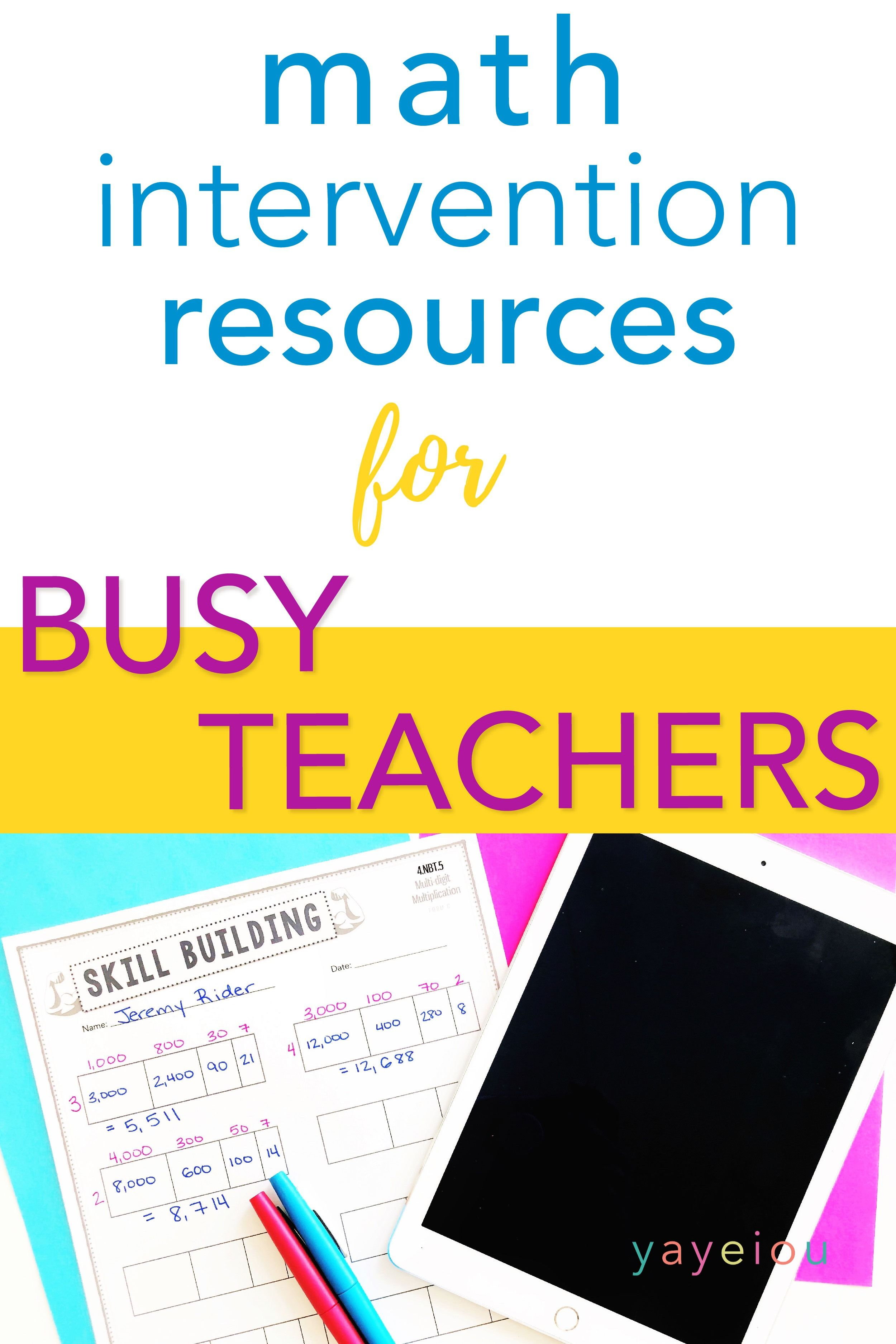 No Prep Print Amp Go Math Intervention Resources For Busy