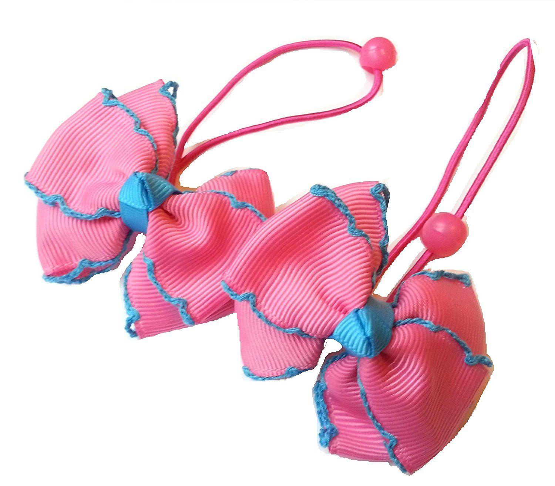 "NEW /""POLKA-DOT GREEN/"" Cheer Bow Pony Tail 3 Inch Ribbon Girls Hair Cheerleading"