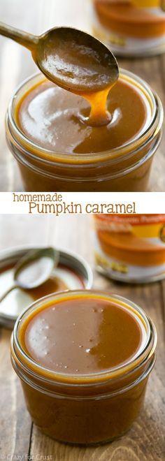 Homemade Pumpkin Caramel Sauce - Crazy for Crust
