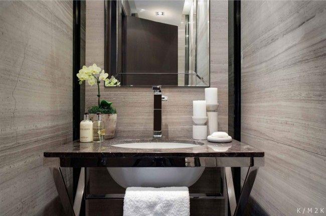 Luxus Penthouse Einrichtung Fliesen Sandstein Waschtisch