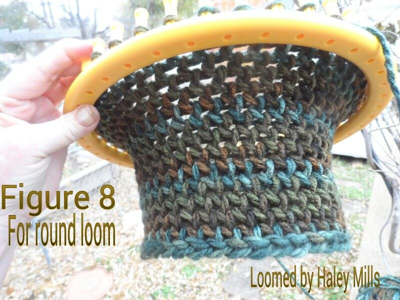 Cowl Made With Figure 8 Stitch On A Round Loom Loom Knitting