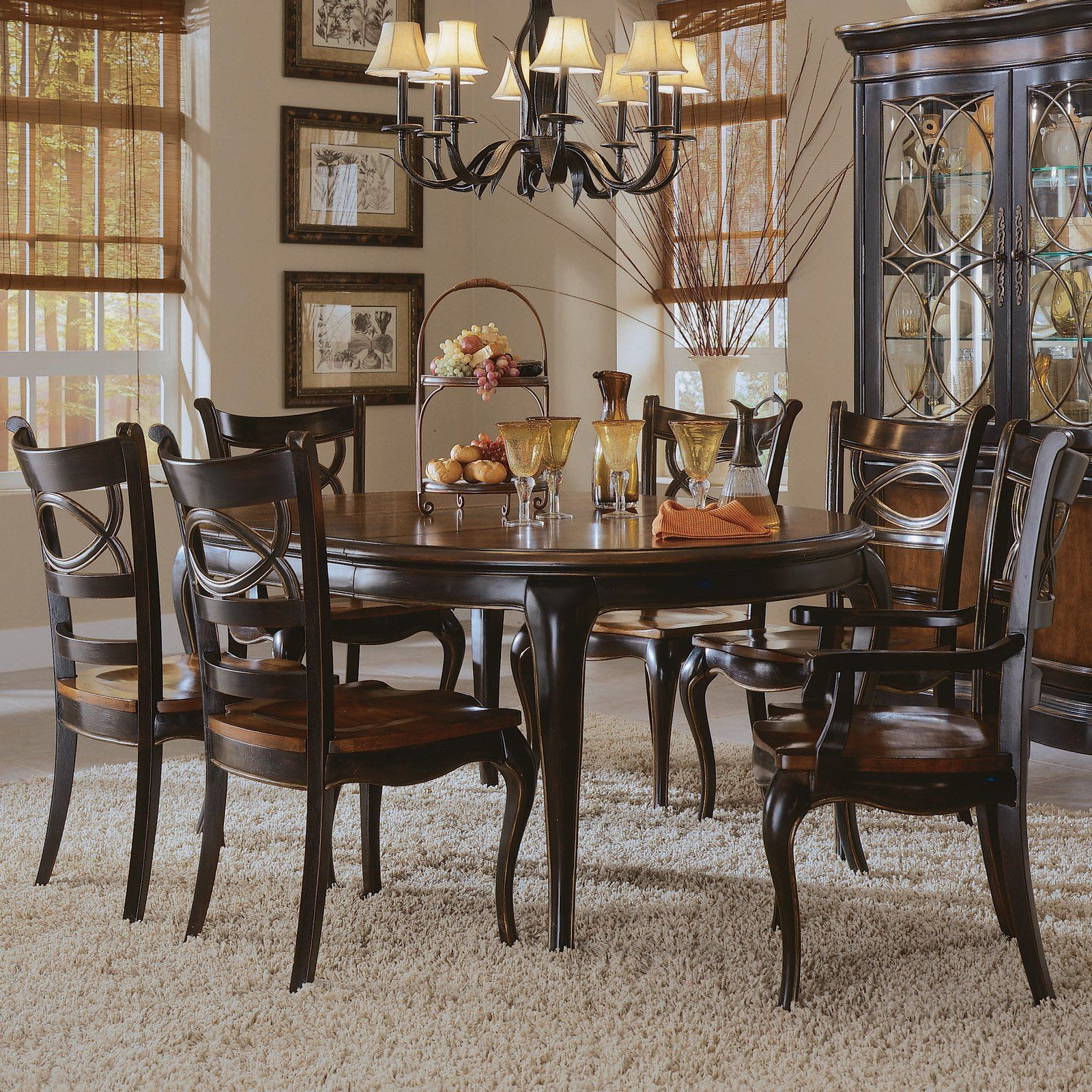 Hooker Furniture Preston Ridge 7 Piece Oval Dining Set  With Custom Oval Dining Room Table Sets Design Inspiration