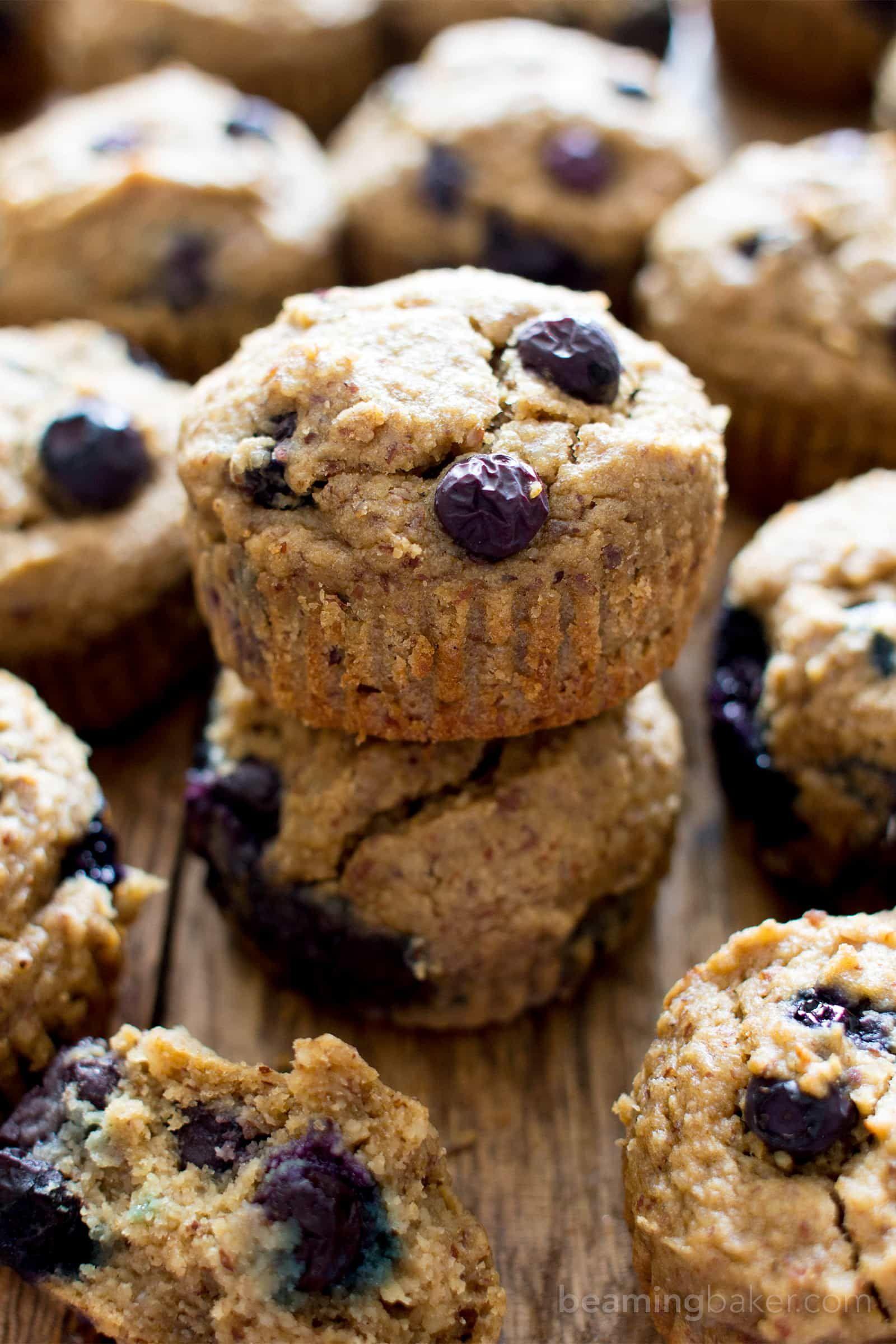 Gluten Free Vegan Blueberry Applesauce Muffins V Gf A One Bowl