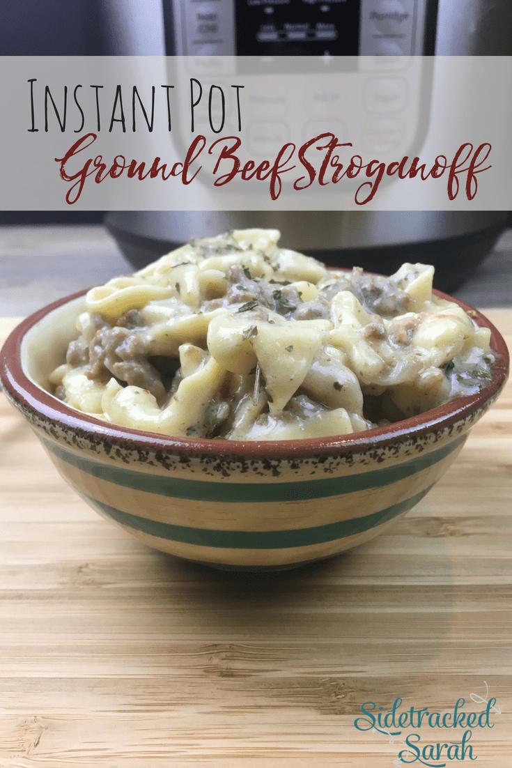 Instant Pot Ground Beef Stroganoff Recipe Beef Recipe Instant Pot Pot Recipes Healthy Ground Beef Stroganoff