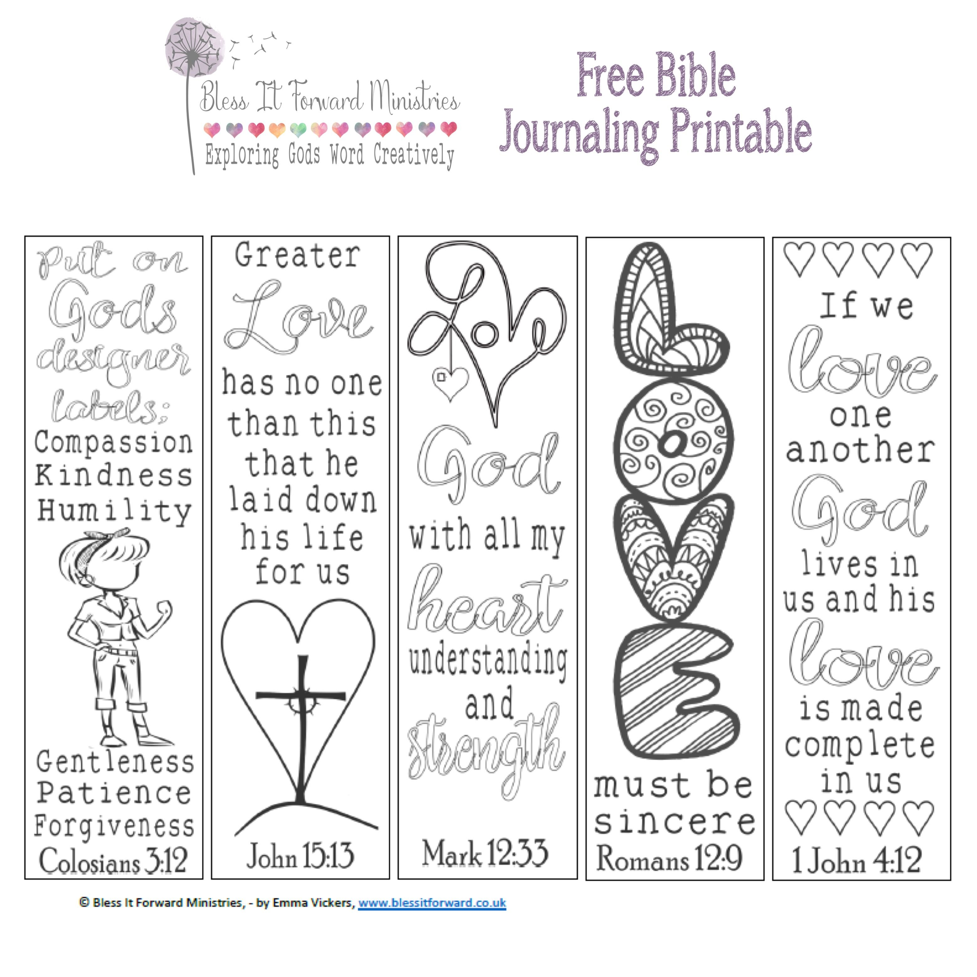 Free Bible journaling printable..... ) Bible