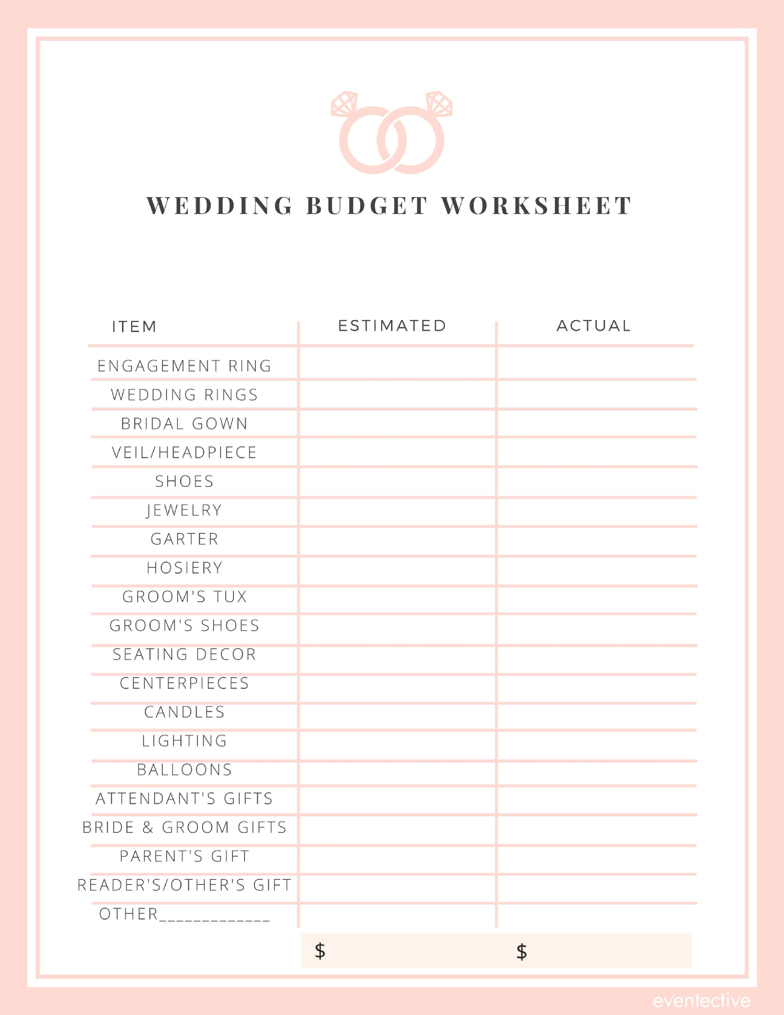Wedding Budget In With Images