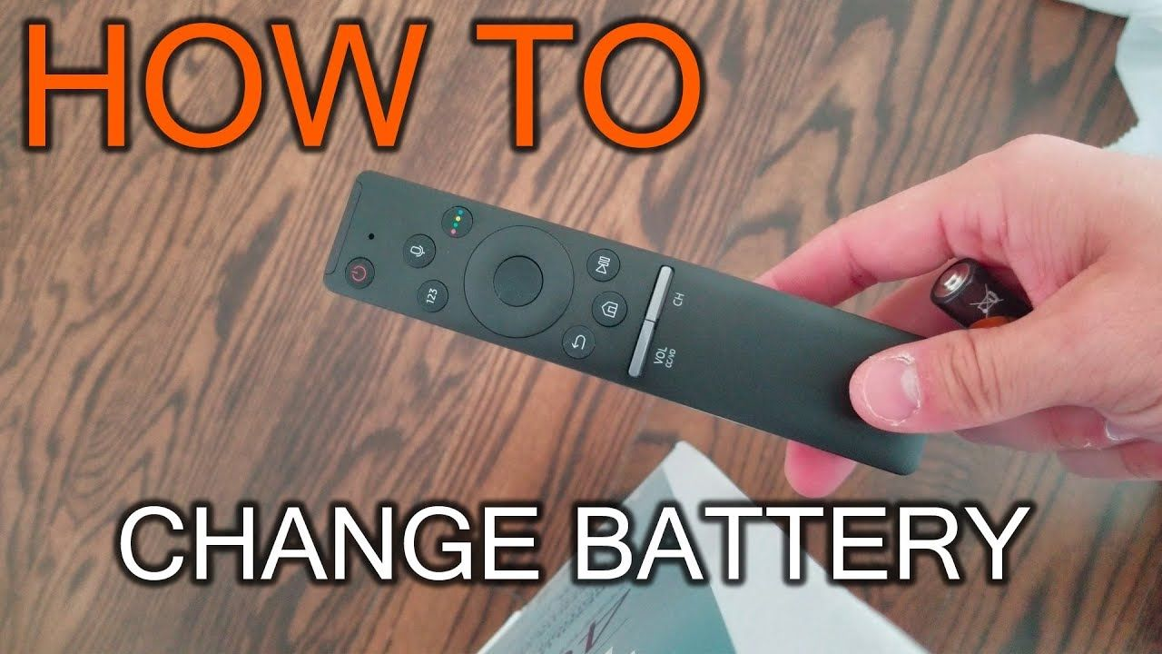 How to Change Battery in Samsung TV Remote YouTube Tv