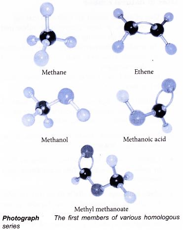orderhomologousseries1 Organic molecules, Physical