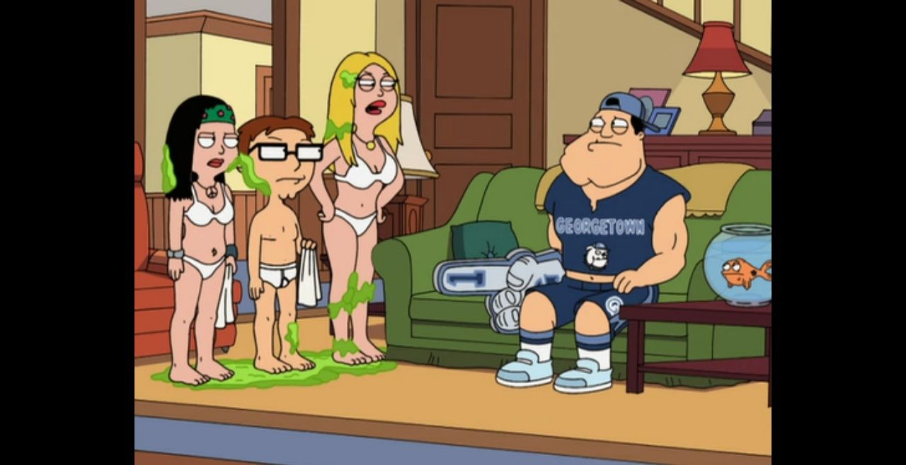 American Dad S3e1 The Vacation Goo 2007 Hayley Steve And