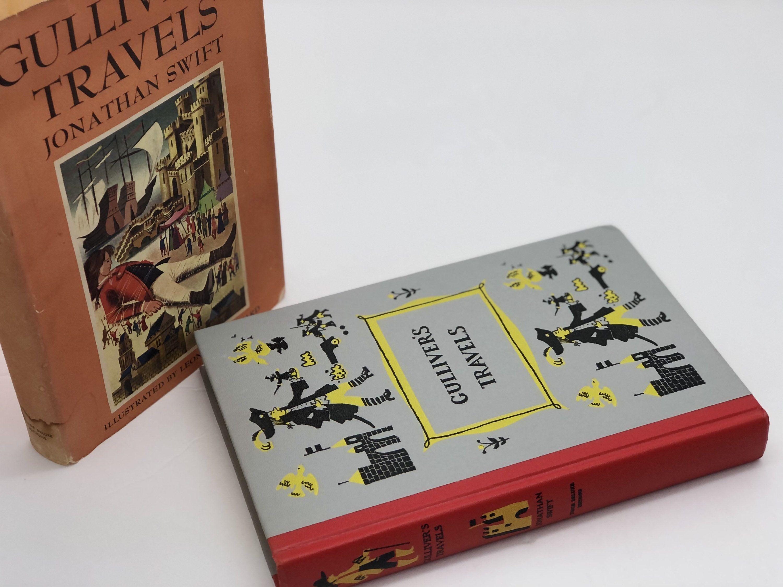 1954 Gullivers Travels Classic Vintage Fiction Lilliput Etsy Gulliver S Travels Book Decor Black And White Books