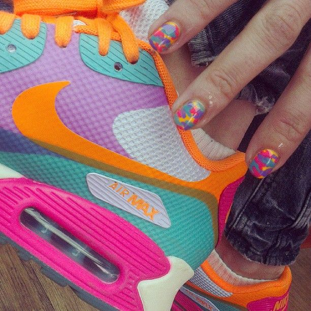 Super sick @Nike n nail combo for another Glastonbury goer by Ellie! #nailart