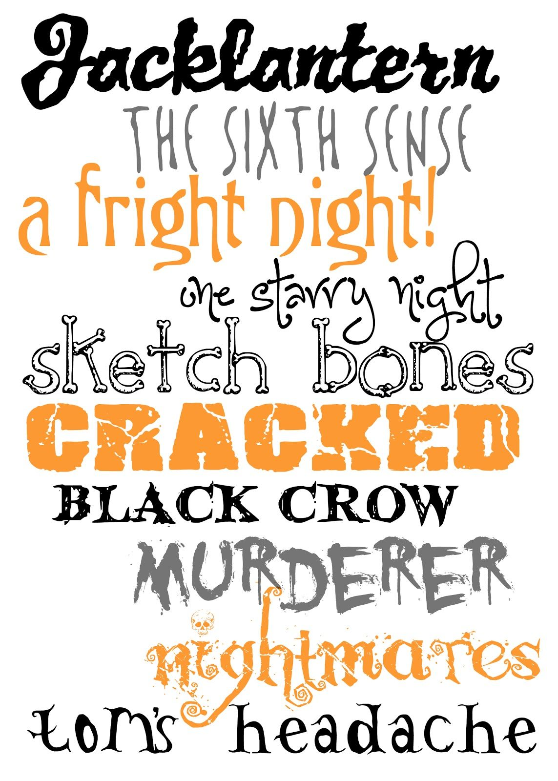 Halloween Themed Fonts