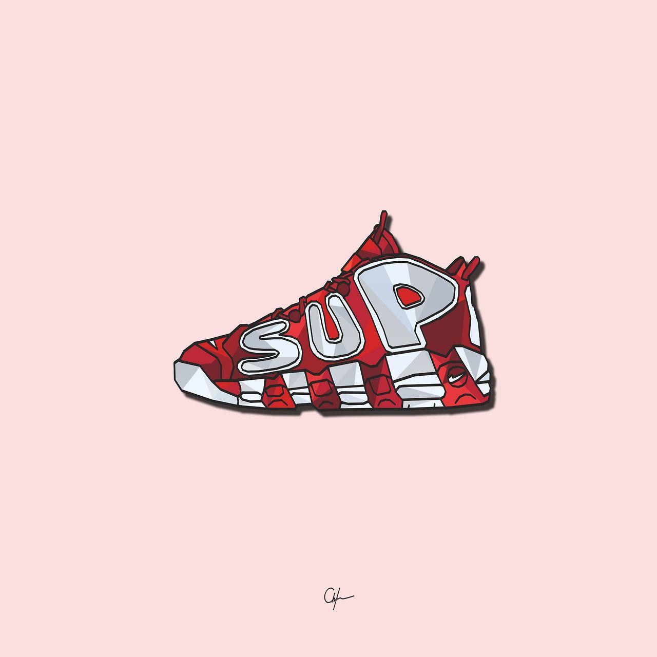 93c7f421337f Nike x Supreme Uptempo ART