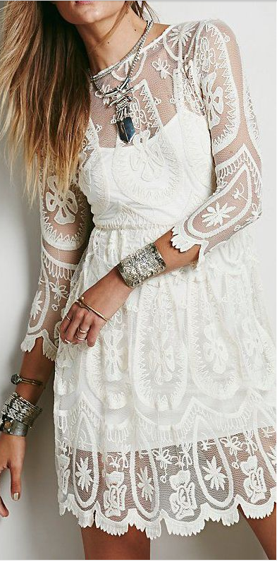 sheer long sleeve lace dress. For rehearsal dinner (With