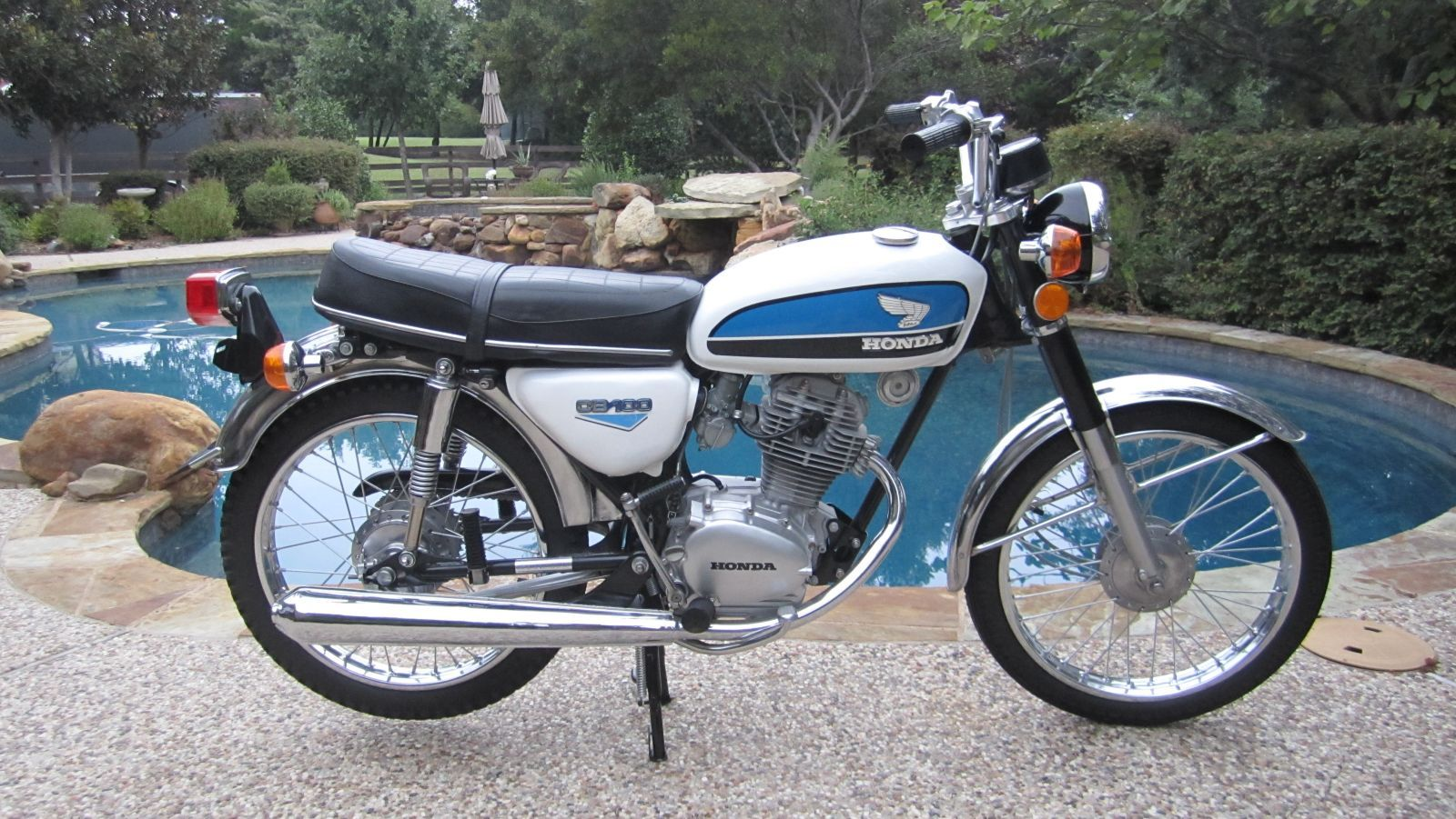 1972 Honda CB100. My very first motorcycle looked exactly