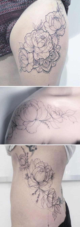 Claire Benson, UK #FlowerTattooDesigns