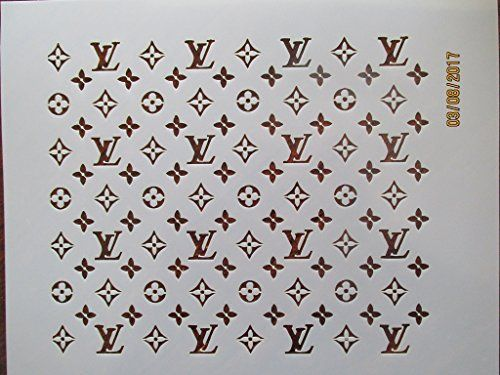 710f471f9f9 Large LV Fashion Brand Decorating Print Stencil - Custom Decorating ...