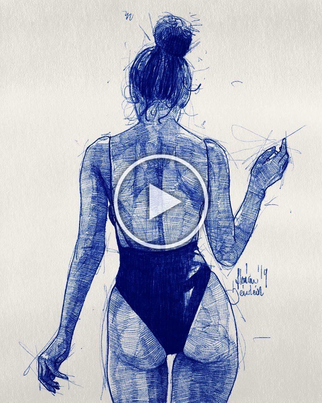 #missnairagishian #zeichnung #fitness #drawing #skizze #model #night #break #chill #draw #back #arte...