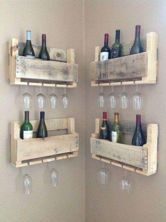 Arredi con i bancali ecco 20 fantastiche idee for Portabottiglie vino fai da te