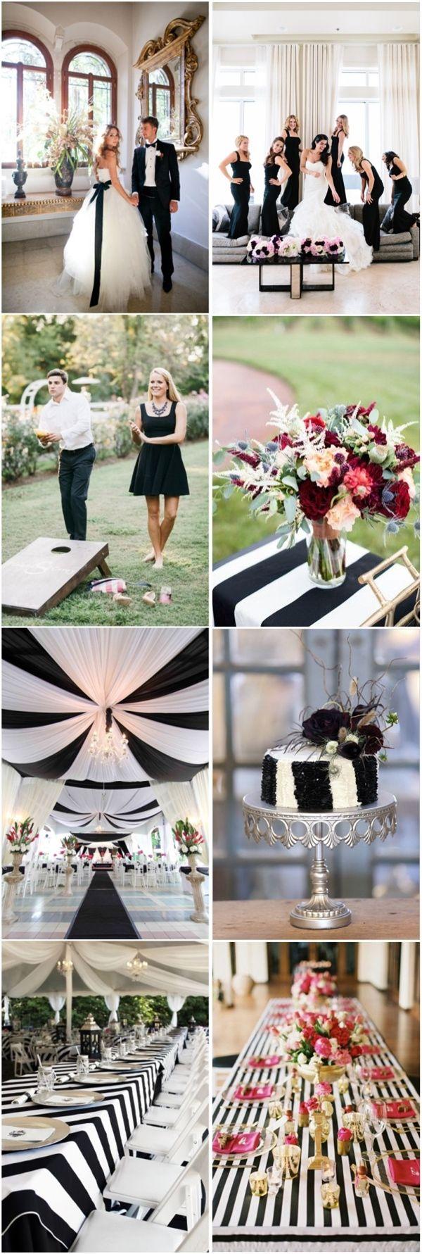 Black on black wedding decor   Black and White Wedding Ideas to Love  Weddings Wedding and Black