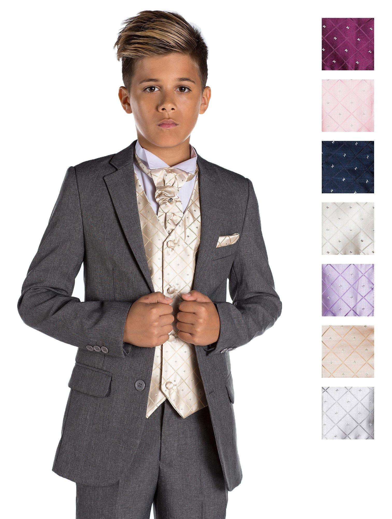 Boys grey wedding suit - Charles