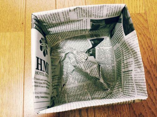 ゴミ 新聞紙 袋 で
