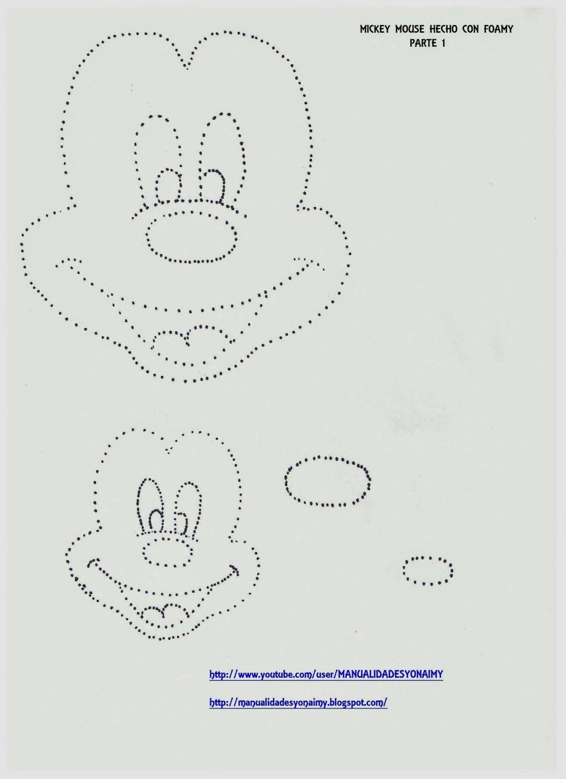 Mickey Mouse Hecho Con Foamy O Goma Eva Manualidades
