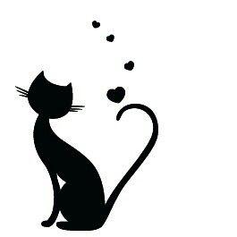Cat  Kitten Silhouette set 12 wall art design vinyl sticker decals