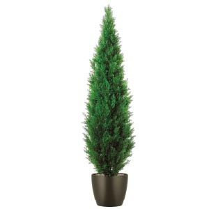 Artificial Cypress Topiary in Plastic Planter - 7 Feet High - Indoor or Outdoor - Available in 4', 5', 6', 7' - Custom Sizes & Planters Available