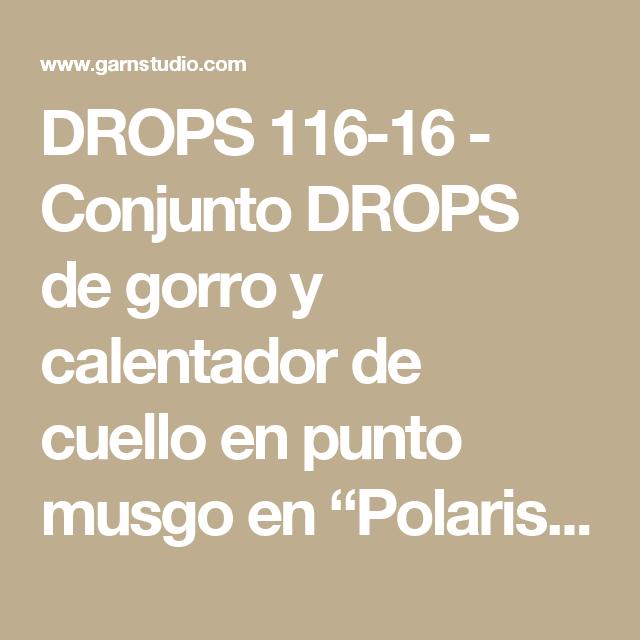 DROPS 116-16 - Conjunto DROPS de gorro y calentador de cuello en ...