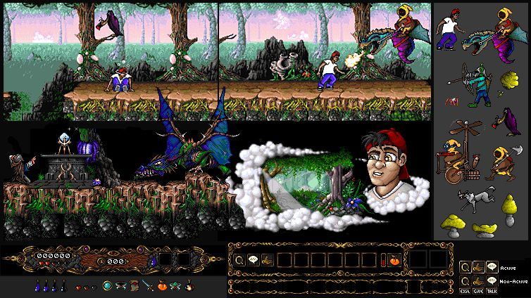 """Amiga game concept """"Mystic Dream"""" Created some tile-sets and animation assets for the playable demo."""