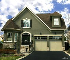 Best House Color To Go With Dark Brown Roof Google 400 x 300