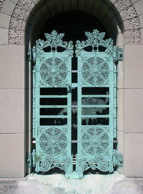 Door Detail Getty Tomb Graceland Cemetery Chicago. - Designed by Louis Sullivan & Door Detail Getty Tomb Graceland Cemetery Chicago. - Designed by ...