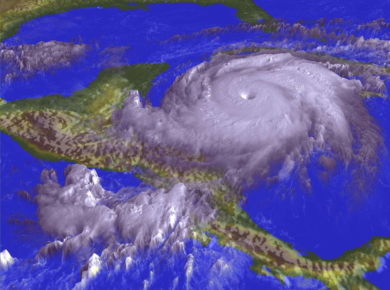 1998 Hurricane Mitch Caauses Massive Damage Thousands Killed And Hundreds Of Thousands Left Homeless Across Hurricane Images Wild Weather Weather Hurricane