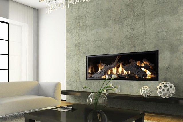 Modest Ideas Linear Gas Fireplace Modern Linear Fireplaces .