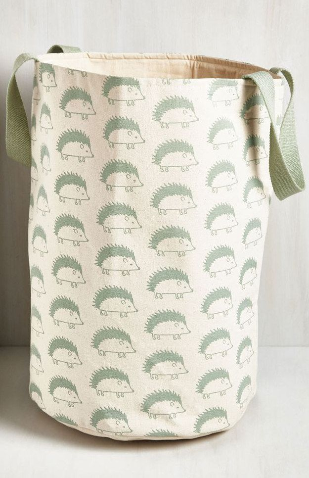 This Practical And Pretty Laundry Bag Vintage Bath Hedgehog