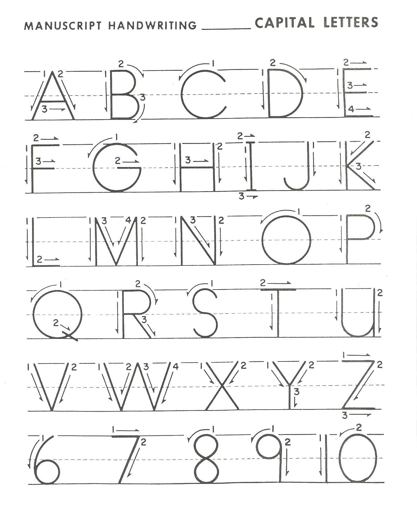 Uppercase Letter A Tracing Worksheets In