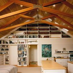 Open Truss Ceiling Design Ideas Pictures Remodel And Decor Small Basement Remodel Basement Remodeling Finishing Basement