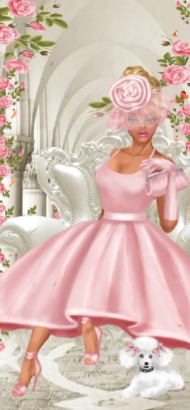 Congratulations to today's Doll of the Day, mannequin! She is our DOTD for #two days in a row and is wearing this #gorgeous #baby #pink #dress with #elegant #gloves and a #hat, great job! #dressupgames #fashiongames #fashion #girlgames #fashionillustrations #designer #DOTD #DollOfTheDay #divachix.