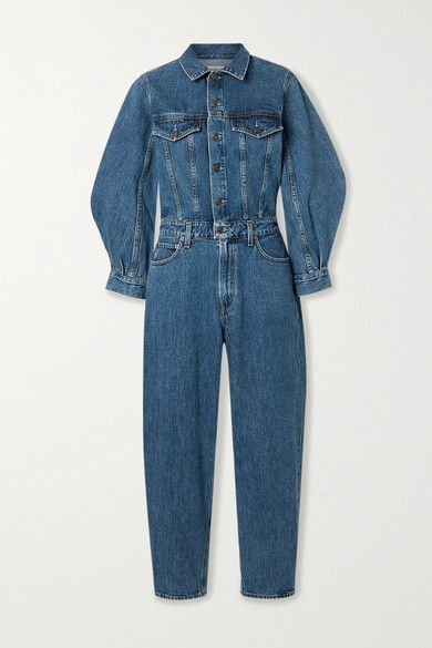 AGOLDE's jumpsuit makes it so easy to tap the current utility trend - it requires such little styling to look cool. Made from lightly structured denim, it has voluminous sleeves and fits slim through the bodice before falling to straight-leg pants. Wear yours with ankle boots and a statement bag.