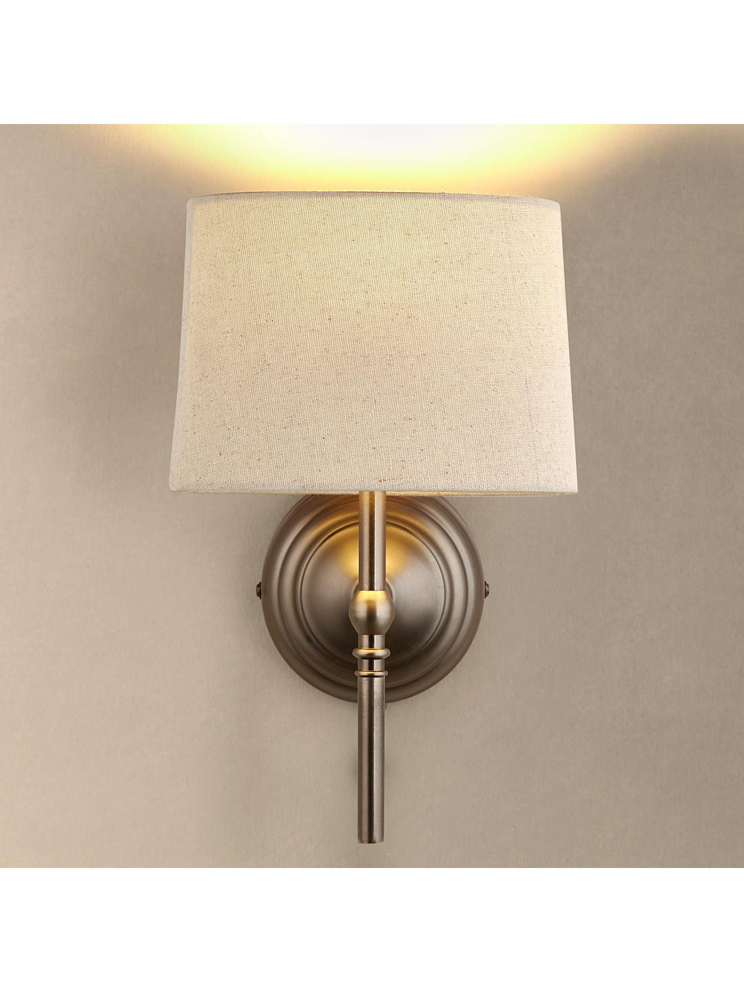John Lewis Partners Isabel Wall Light 1 Pewter In