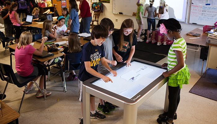 Technology In Elementary Classrooms : Interactive tables interactive displays elementary technology