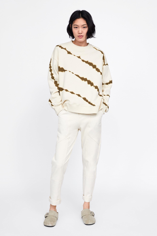 Zara Mulher Sweatshirt Tie Dye Mode Fur Frauen Batik Kleidung Was Soll Ich Heute Anziehen [ 2880 x 1920 Pixel ]