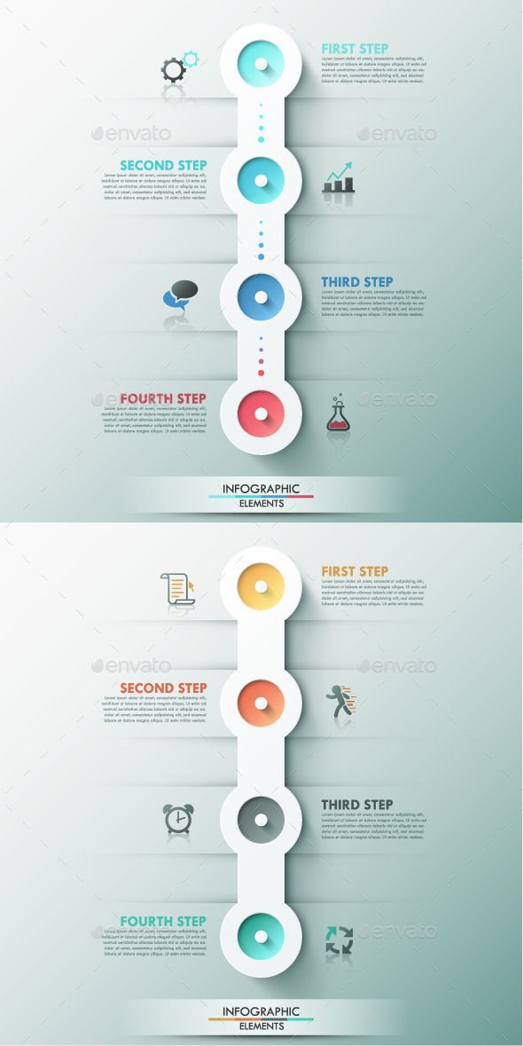 Modern Infographic Process Template (2 Colors) | Color ...
