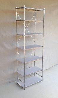 six foot tall aluminum shelving unit 24 inches wide and 12 inches deep with 7 white shelves buy. Black Bedroom Furniture Sets. Home Design Ideas