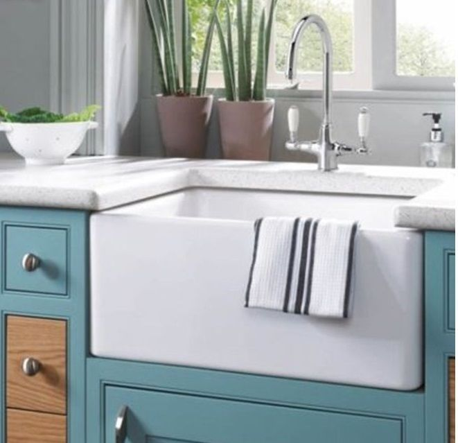 24 24 Inch Fireclay Farmhouse Apron Kitchen Sink White New In Box Unbranded Sinks Farm Sink Farmhouse Apron Kitchen Sinks Farmhouse Sink